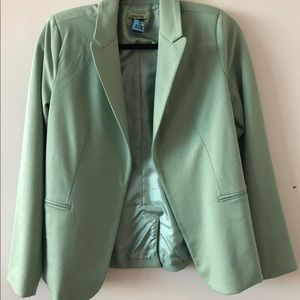 Nordstrom's mint blue lined blazer, small
